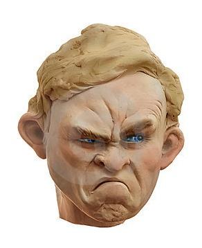 grumpy person