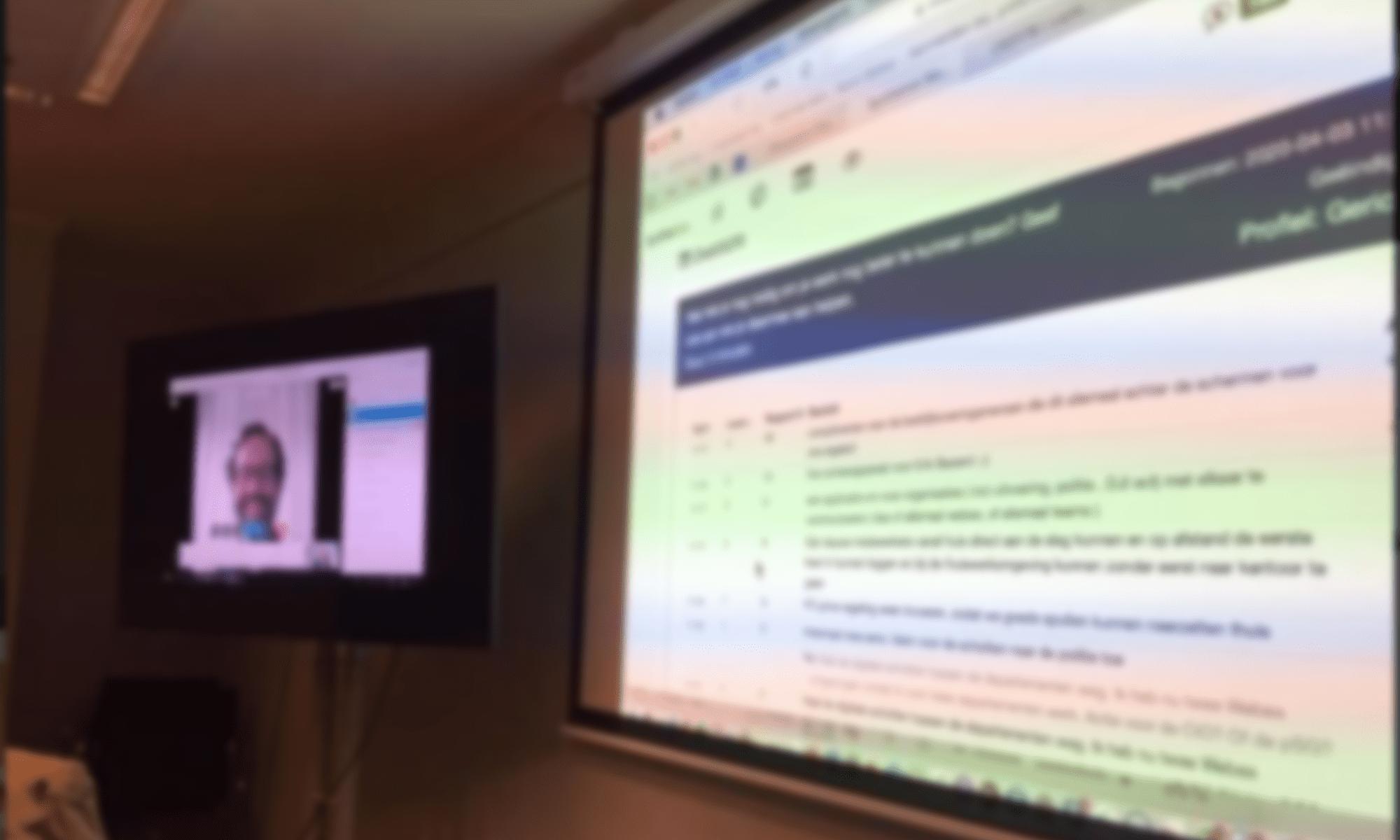 Virtual meeting Synthetron Webex